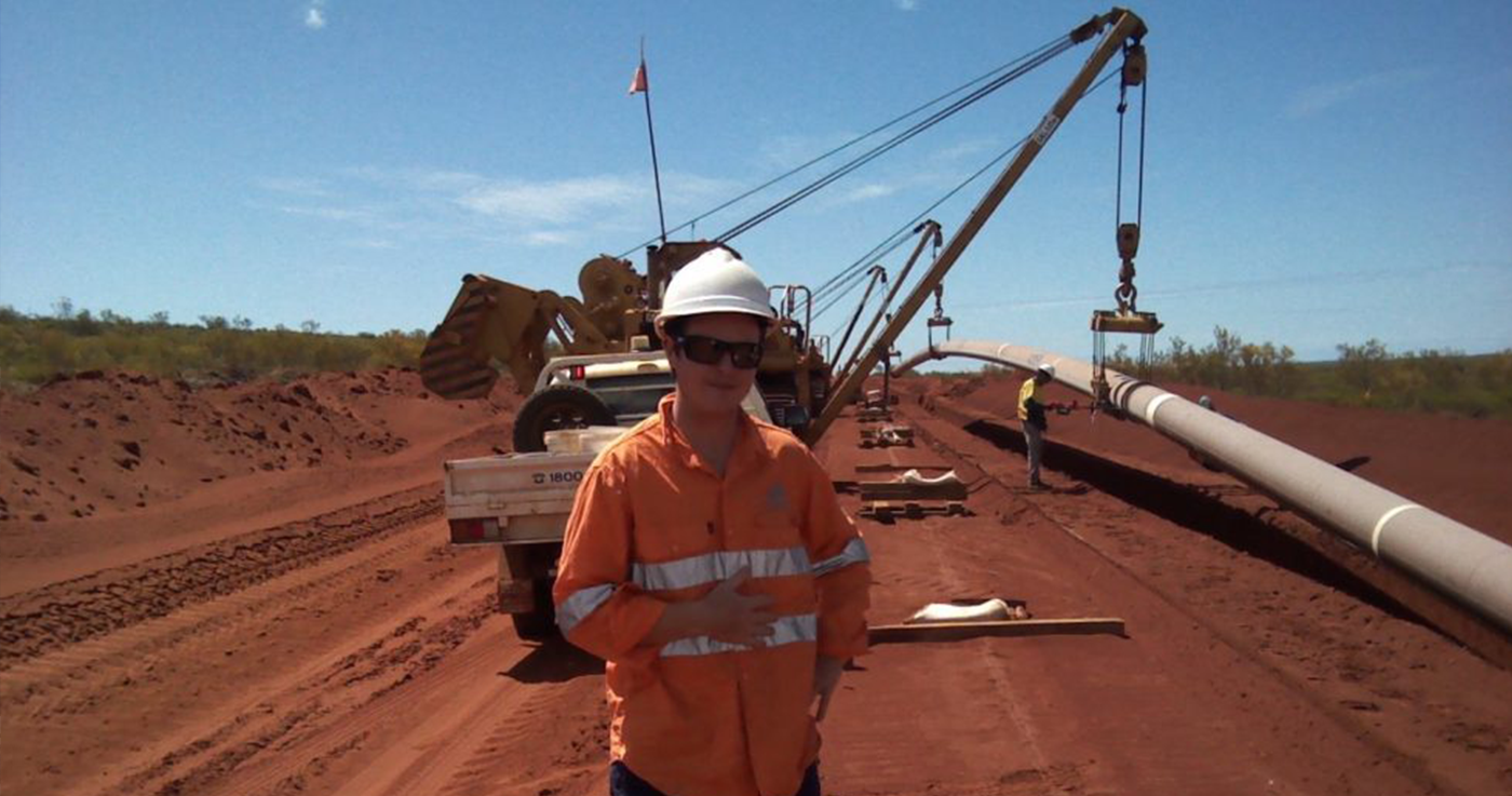 BHP - Kanect personnel were apart of the onshore team installing a 70 Kilometre fibre optic line.